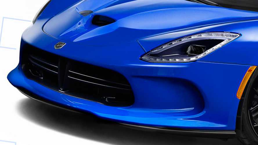 Ortadan motorlu Dodge Viper render
