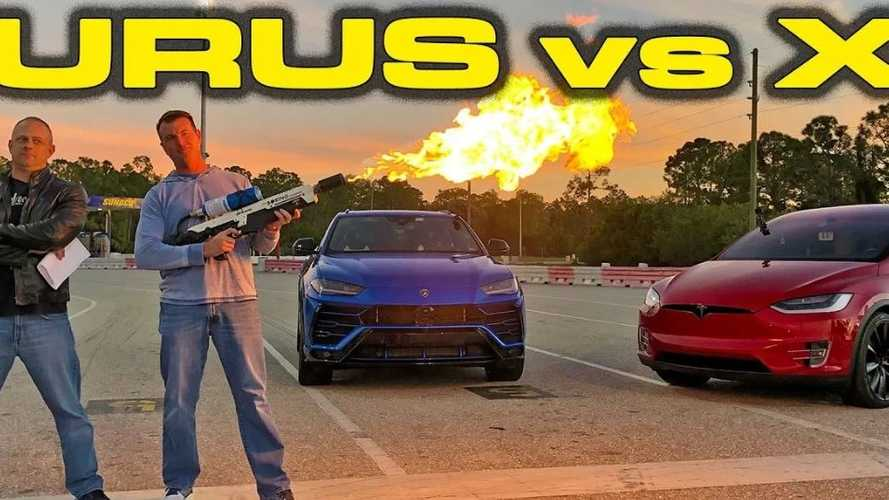 Watch Lamborghini Urus Race Tesla Model X P100D
