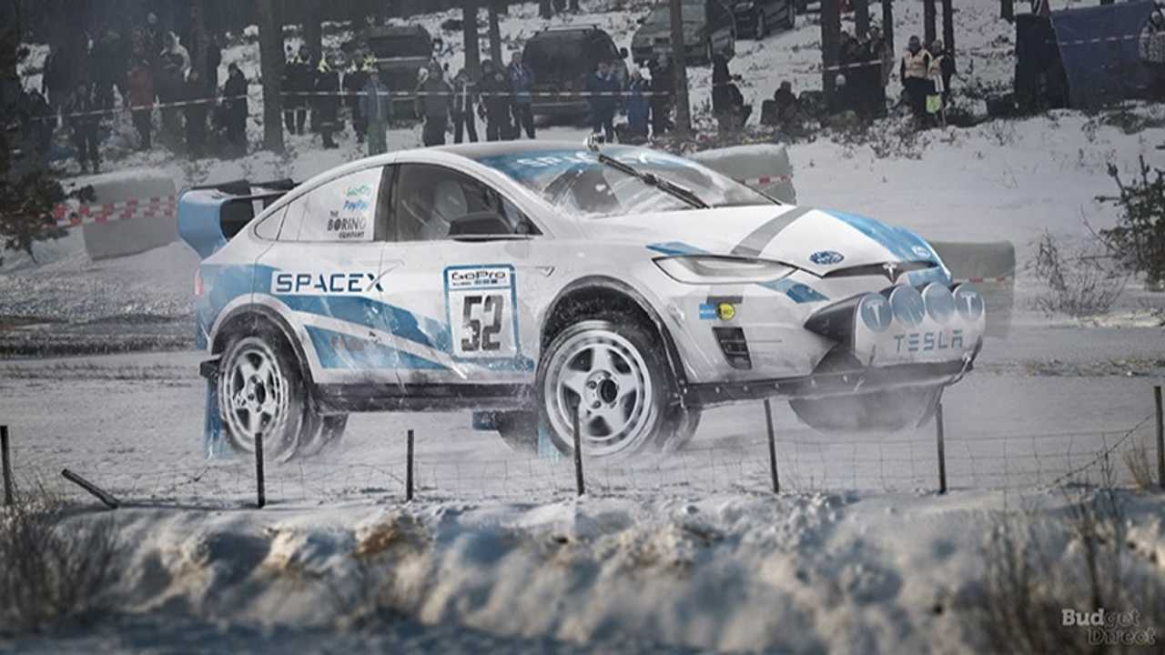 7. Tesla Model X Rally Car