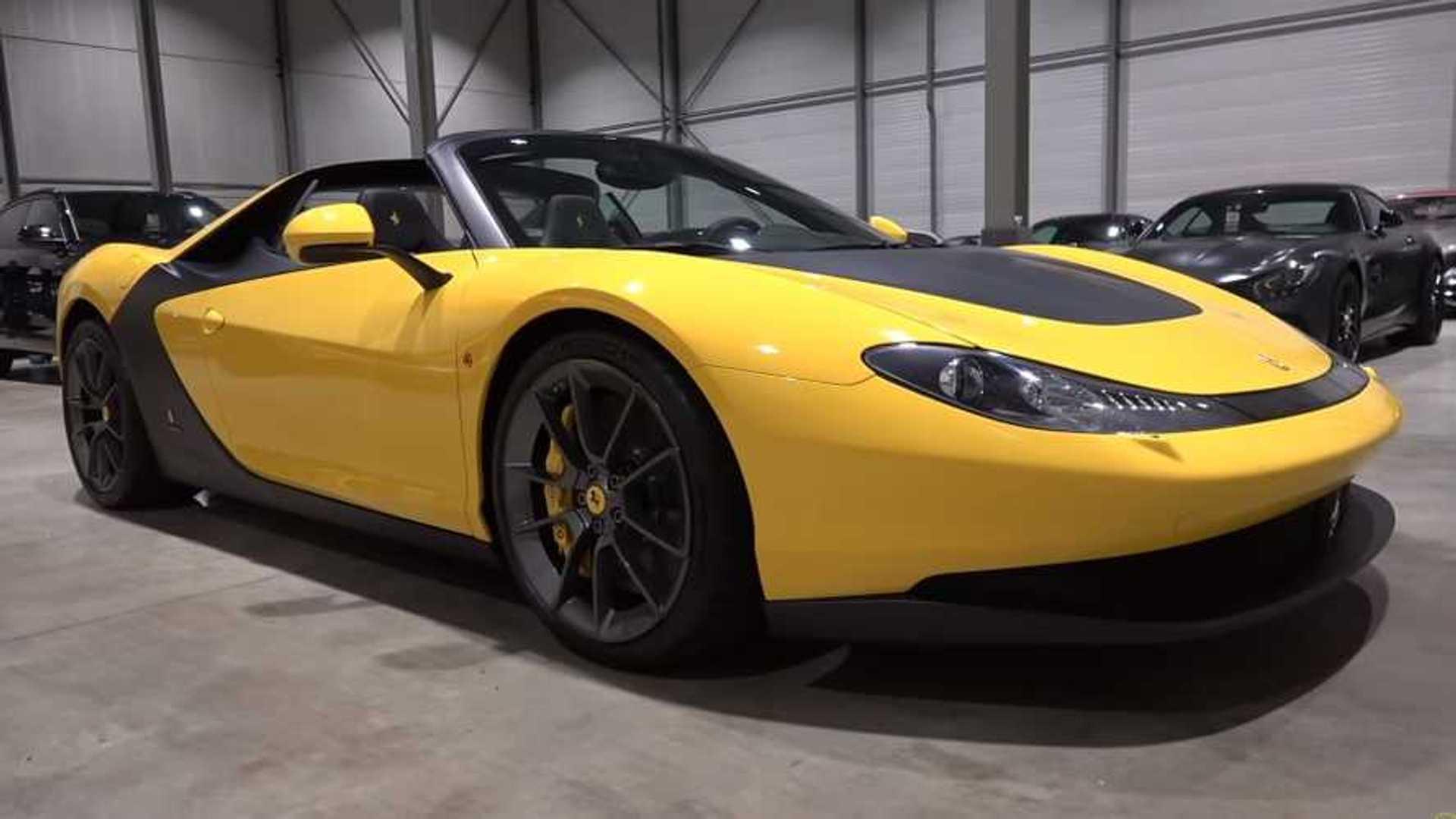 1-of-6 Ferrari Sergio oozes exclusivity on camera