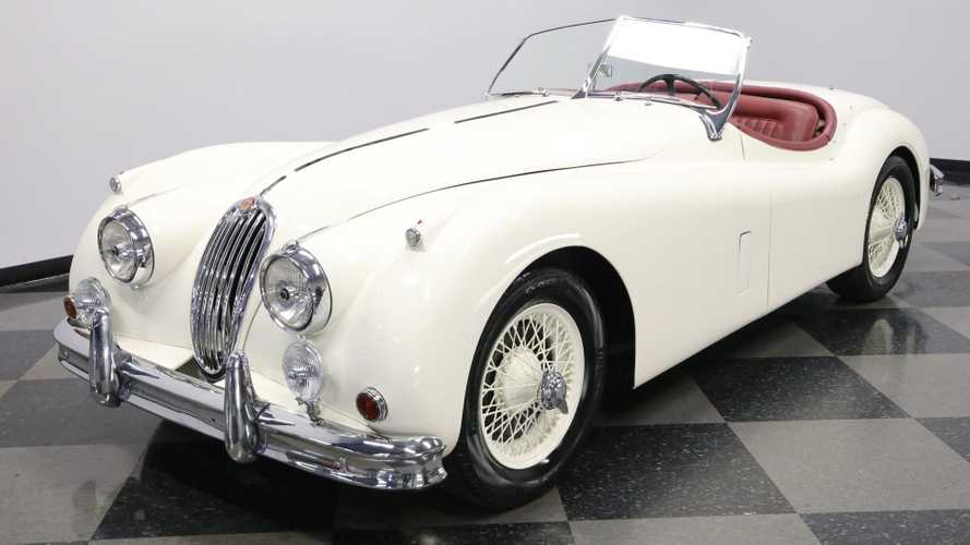 Elegant 1956 Jaguar XK140 Roadster MC Had $136K Restoration