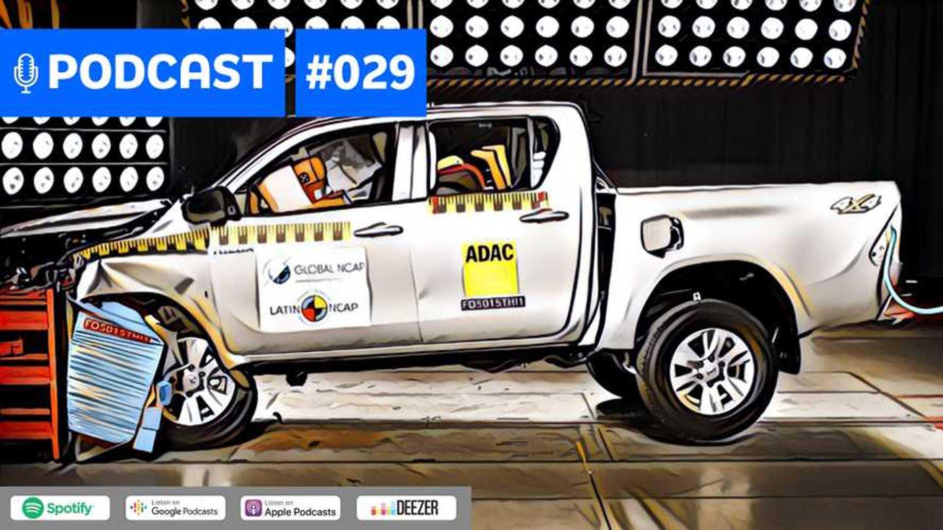 Motor1.com Podcast #29: Toyota Hilux e as 5 estrelas no crash-test