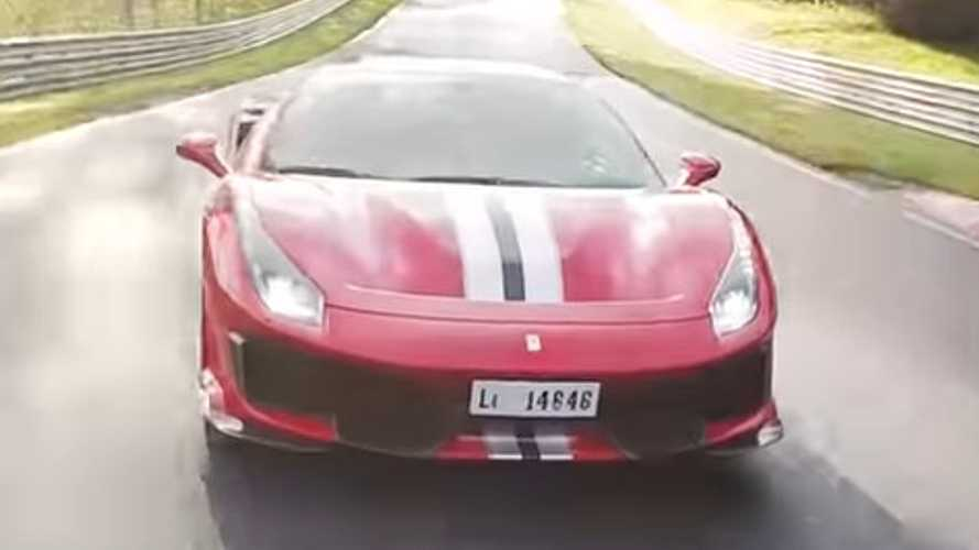 Watch Ferrari 488 Pista aggressively lap the Nürburgring in 7 minutes