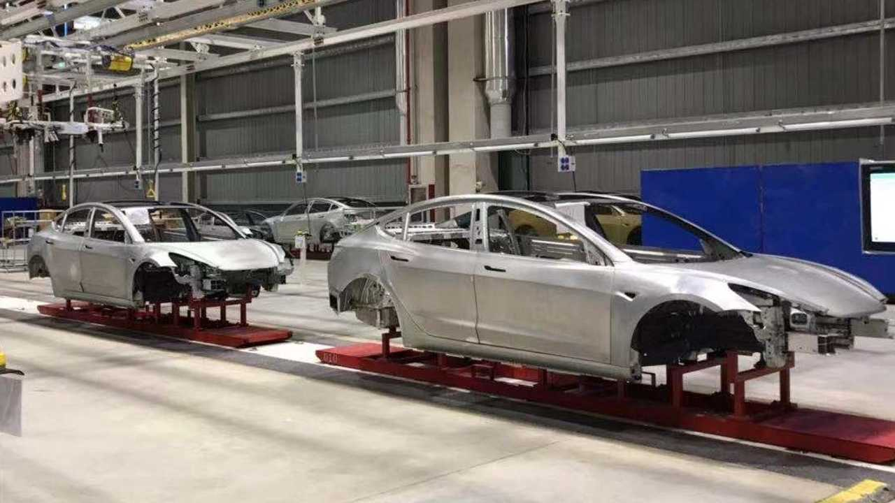 tesla model 3 bodies gigafactory 3