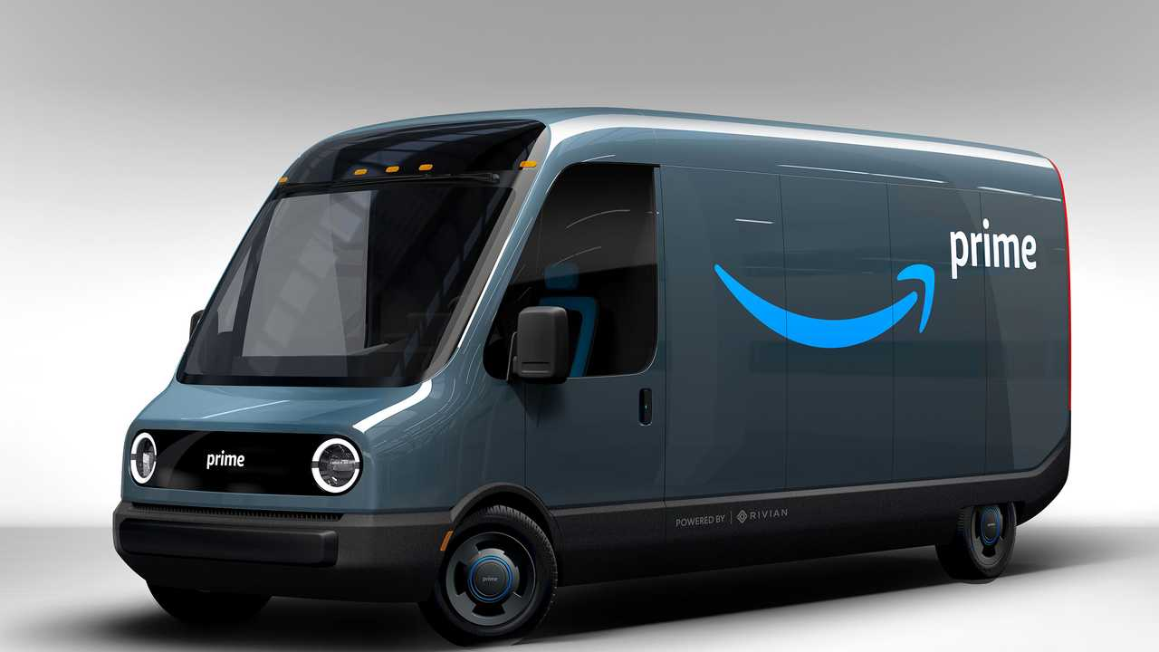 Rivian Amazon electric delivery truck
