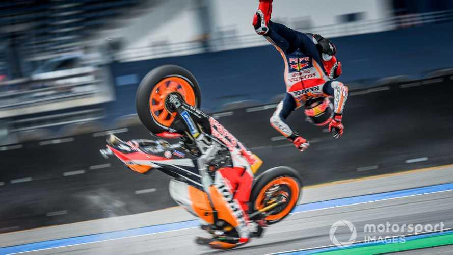 Marc Marquez crash at Thailand GP 2019