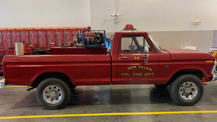 Retired, Low-Mileage 1976 Ford F-250 Fire Truck Sells For $21K