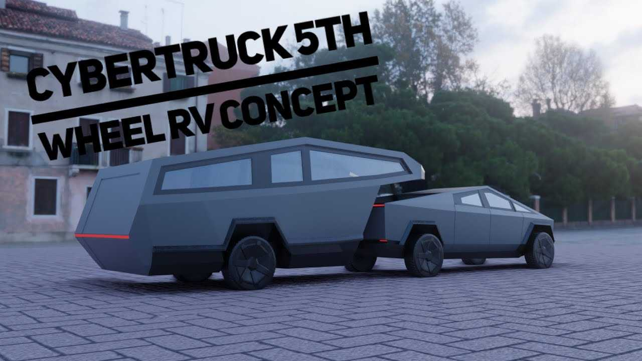 Tesla Cybertruck With Fifth Wheel Camping Trailer Is Beyond Brilliant