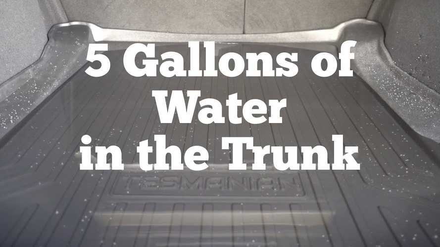 Would You Put 7.5 Gallons Of Water Inside Your Tesla Model 3?