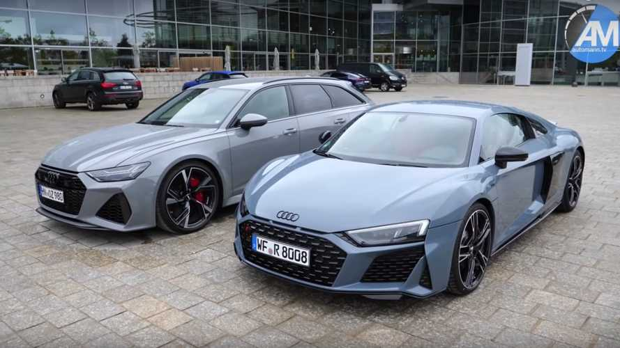 Perfect Two-Car Audi Garage? New R8 And RS6 Avant
