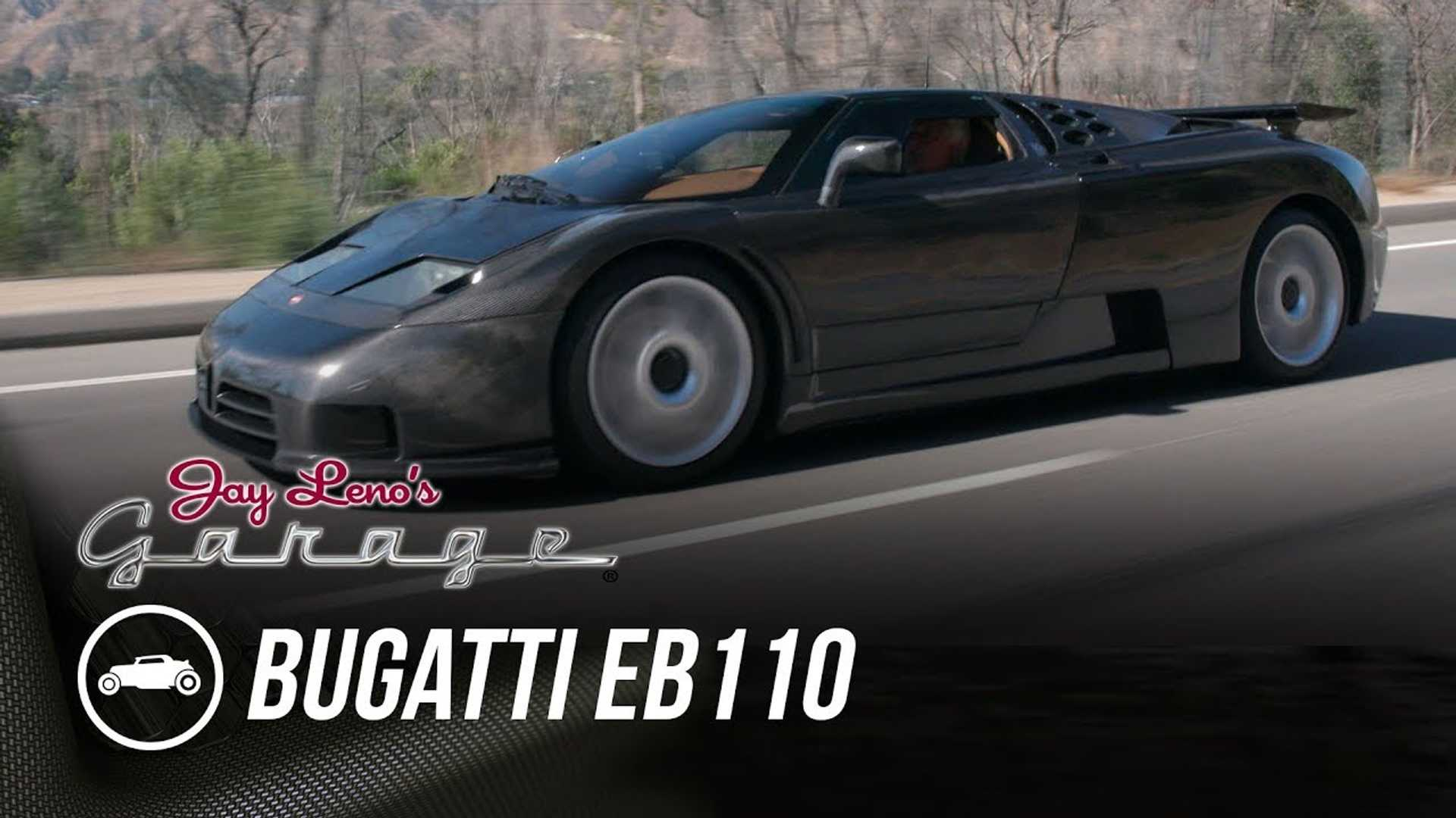 Bugatti EB110 Dauer In Naked Carbon Fiber Visits Jay Leno's Garage