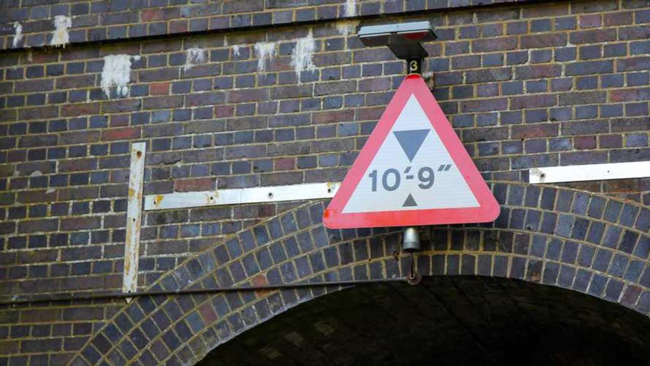 Warning Low Bridge sign