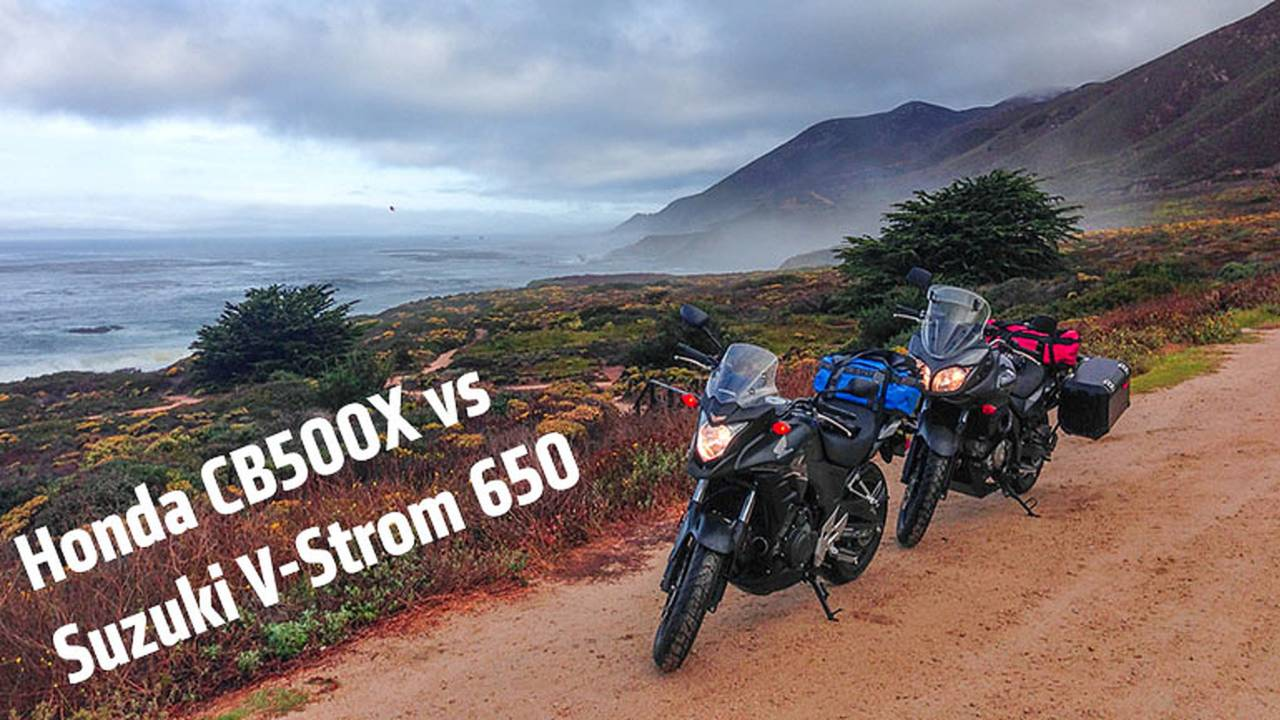 2013 Suzuki V-Strom 650 Adventure vs 2013 Honda CB500X Comparison Test
