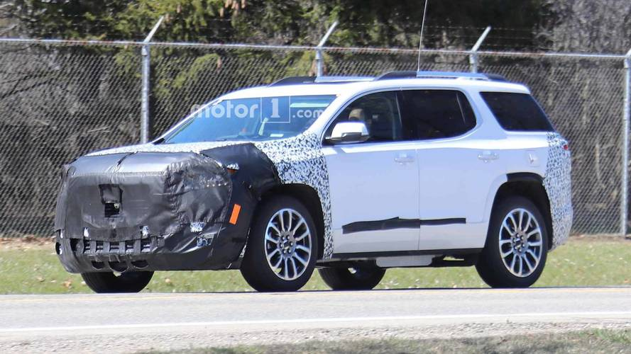 Refreshed GMC Acadia Spied Trying To Hide Updated Face