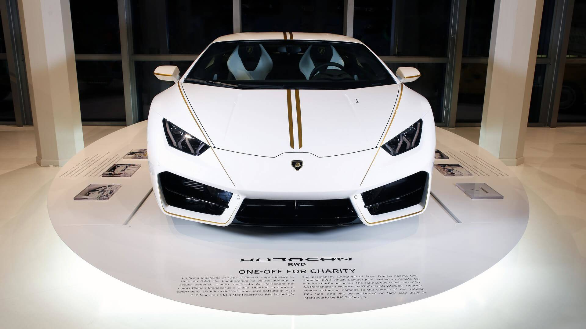 8 Ticket Could Win You Huracan Blessed By Pope Francis