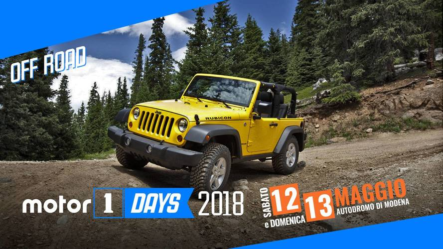 Motor1Days 2018, quest'anno si va anche in Off Road!