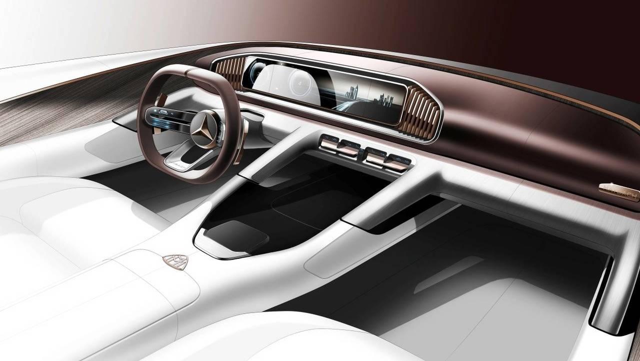 Mercedes-Maybach Ultimate Luxury, primo bozzetto abitacolo
