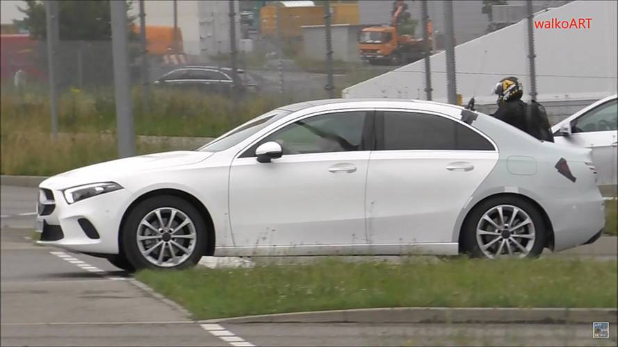 Mercedes A-Class Sedan Spied With Barely Any Camo