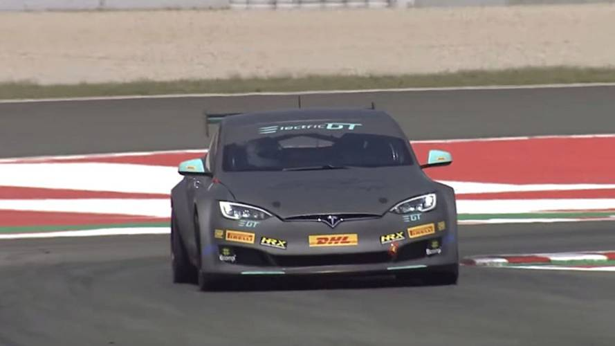 Electric GT Tesla Model S Overheats On The Track