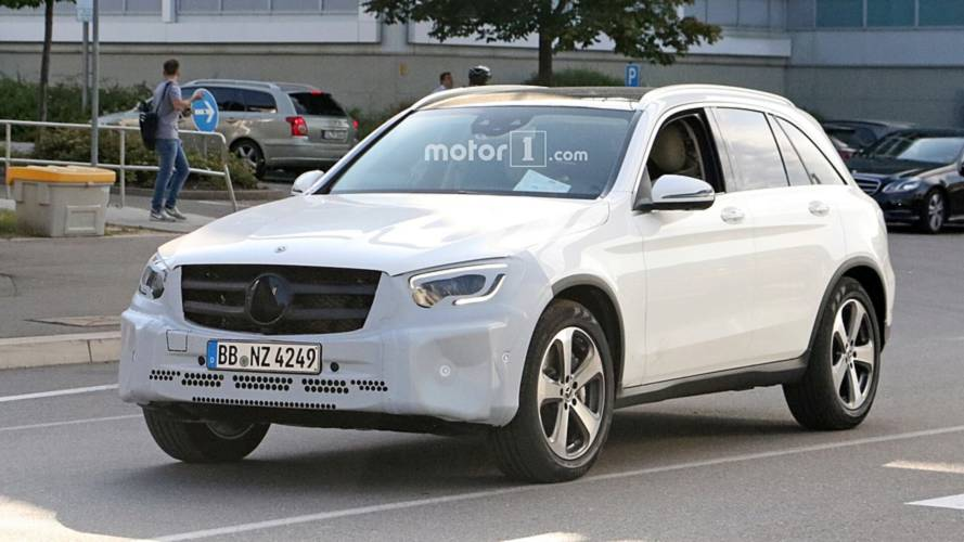 Mercedes GLC Facelift spy shots