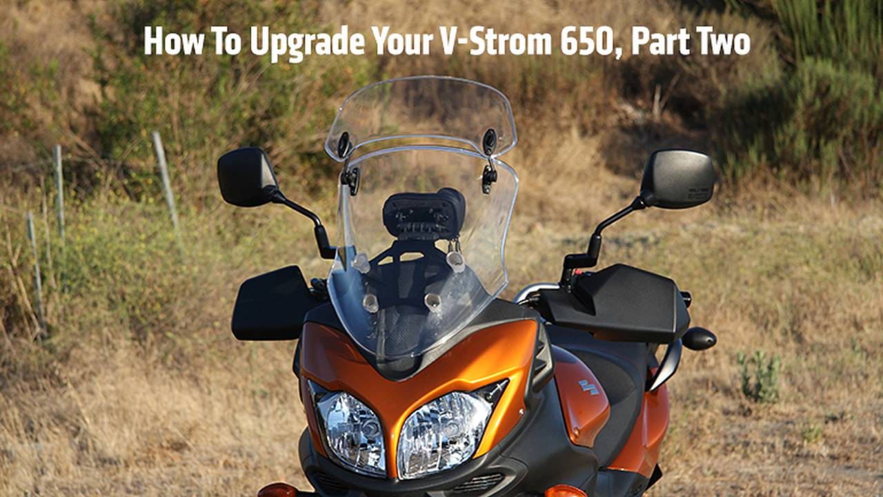 How To Upgrade A Suzuki V-Strom 650 - Part Two