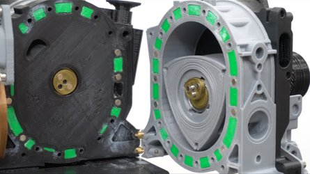 3D Printer ile basılmış Rotary motoruna yakından bakın