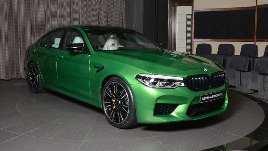 BMW M5 Competition in Rally Green would make anyone envious