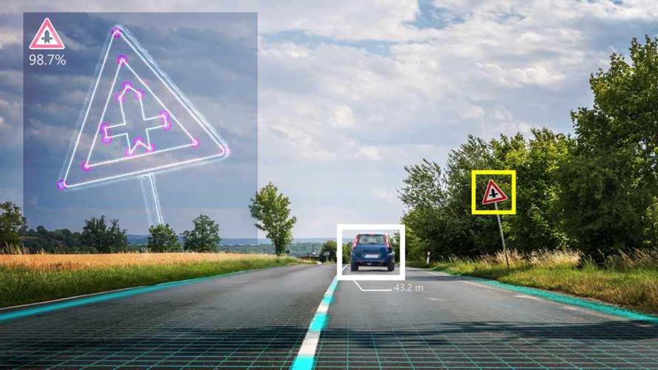 Autonomous self-driving car recognises road signs