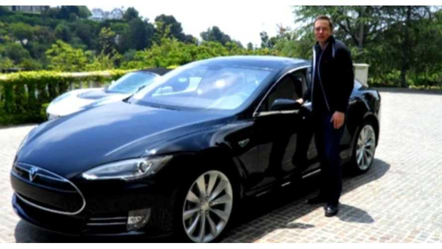 Second Tesla Model S Went To CEO Elon Musk. Ten Customers To Get Cars At Event On Friday
