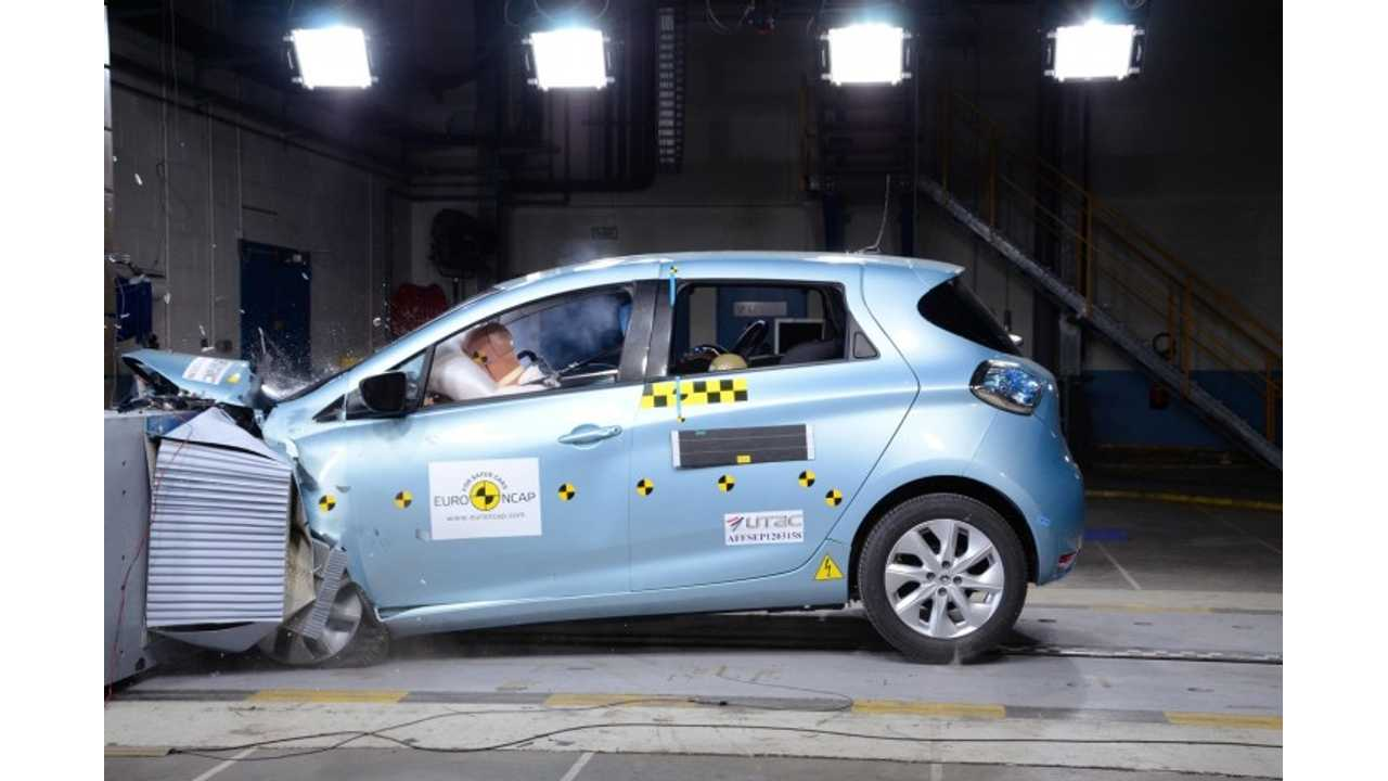 Renault Zoe Earns 5-Star Euro NCAP Safety Rating (Video)