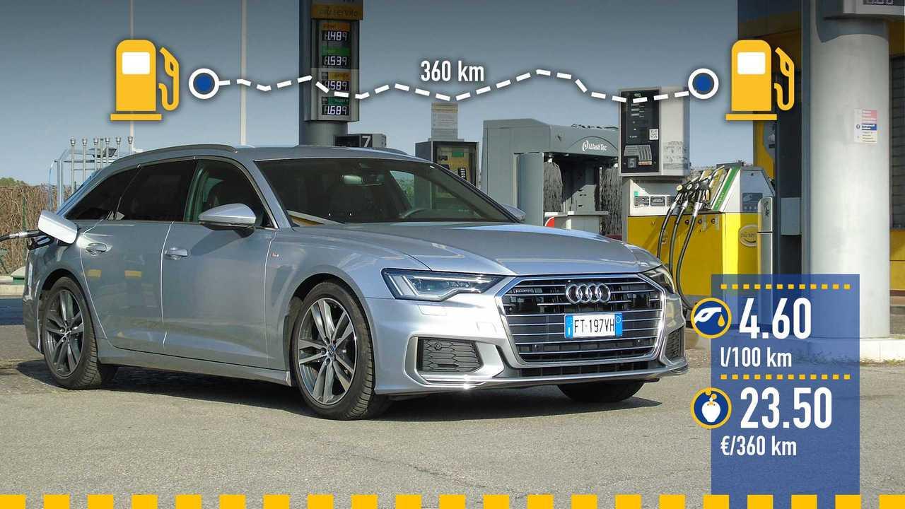 Audi A6 Avant 40 TDI, la prova consumi
