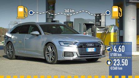 Audi A6 Avant 2.0 diesel, la prova dei consumi reali