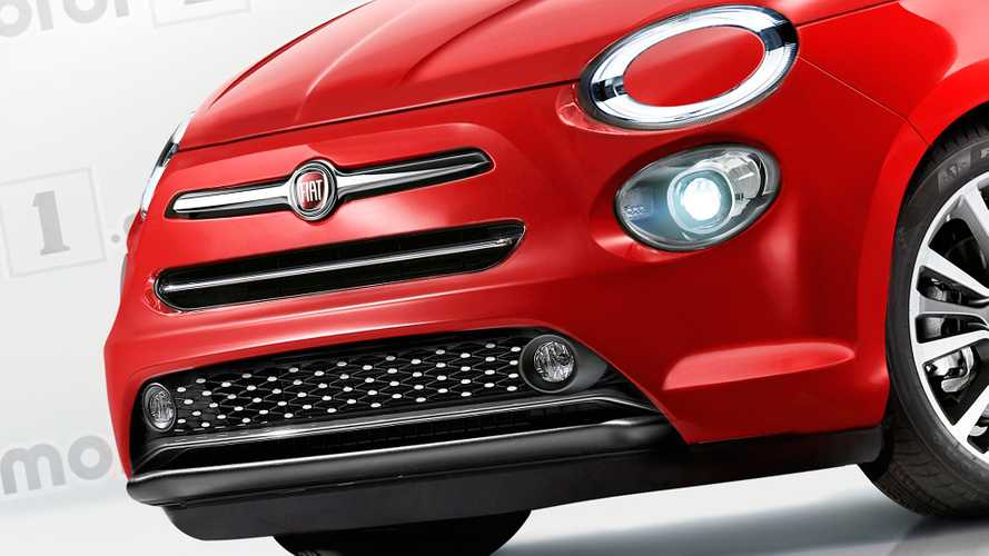 Nouvelle Fiat 500 illustration / rendering