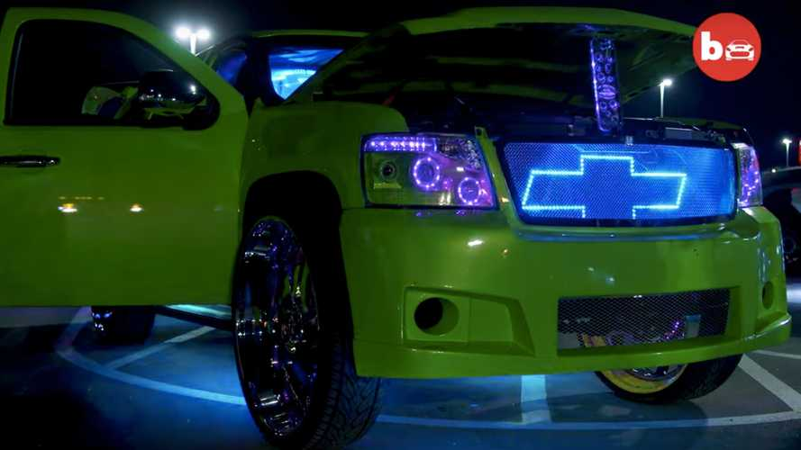 This Wild Chevy Suburban Is Like A Loud And Flashy Billboard