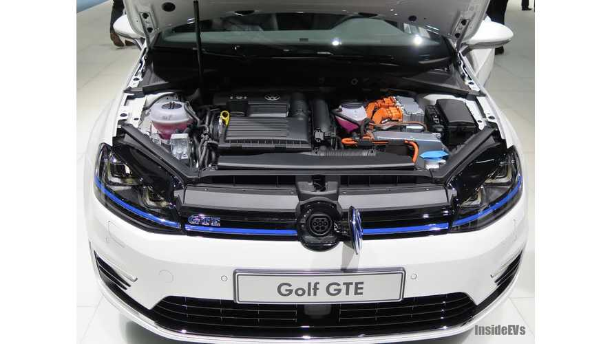 Volkswagen Golf GTE to Have Mass Market Appeal - VW e-Golf a Niche Offering