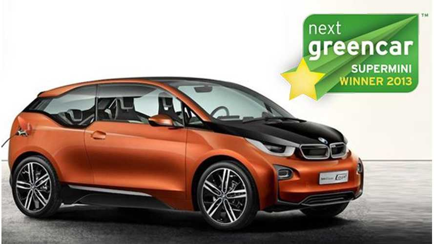 BMW i3 Wins At The 2013 Next Green Car Awards, As Does The Tesla Model S, Nissan LEAF