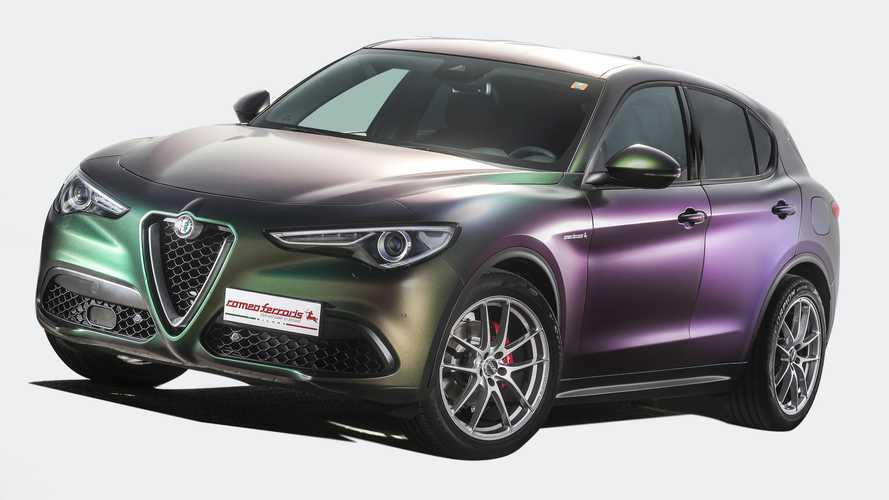 Tuned Alfa Romeo Stelvio Quadrifoglio Has 548 HP, Wild Body Wrap