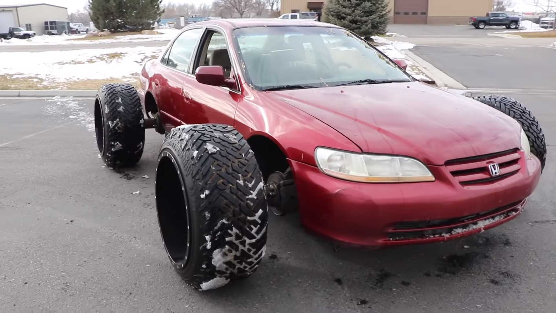 Honda Accord With Huge Off Road Tires Doesn T Look Practical