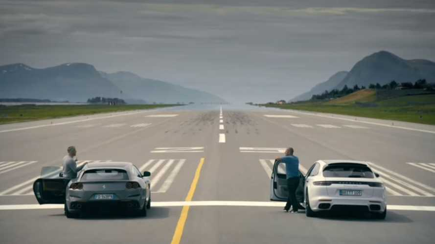 Ferrari Battles Porsche In Top Gear Late Brake Challenge