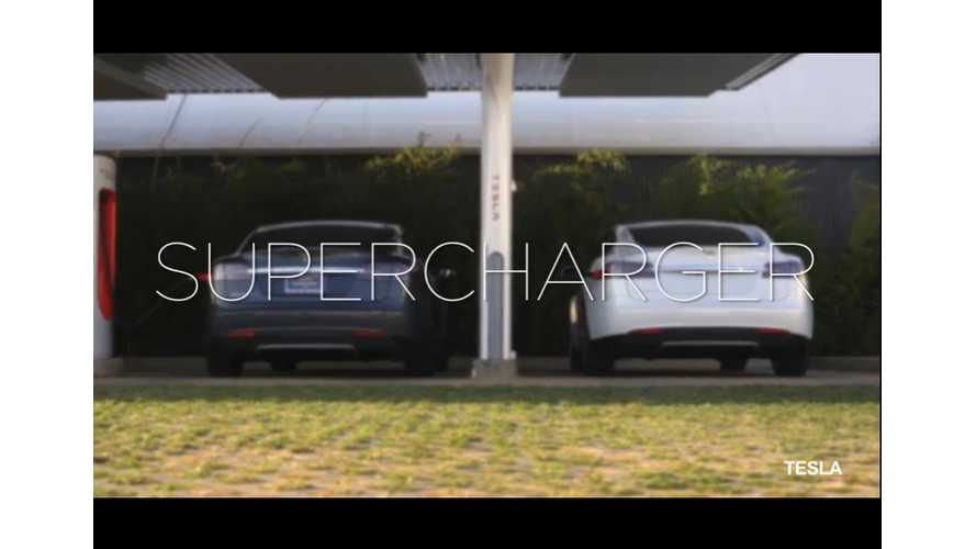 Tesla Supercharger Network Brings Home