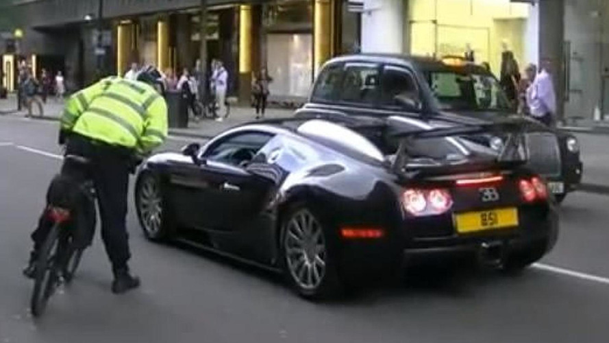 Veyron driver gets pulled over by bicycle cop