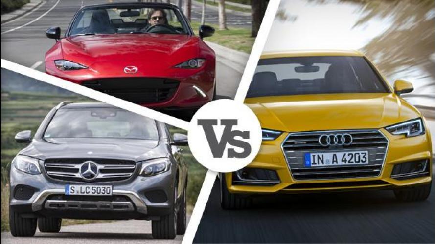 World Car of the Year 2016: Audi A4, Mazda MX-5 e Mercedes GLC per la vittoria