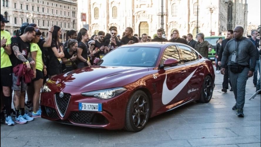 Alfa Romeo Giulia, la Quadrifoglio dei record per Carl Lewis