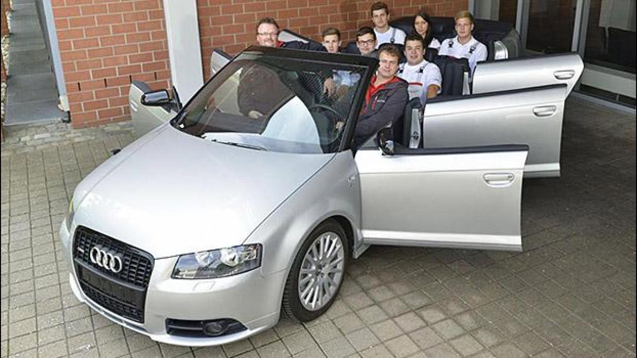 [Copertina] - Audi A3 cabrio XXL, ci stiamo tutti e otto?