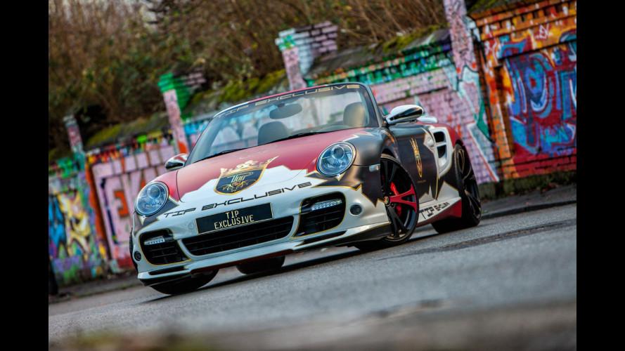 Porsche 911 Turbo Cabriolet, wrapping alla tedesca