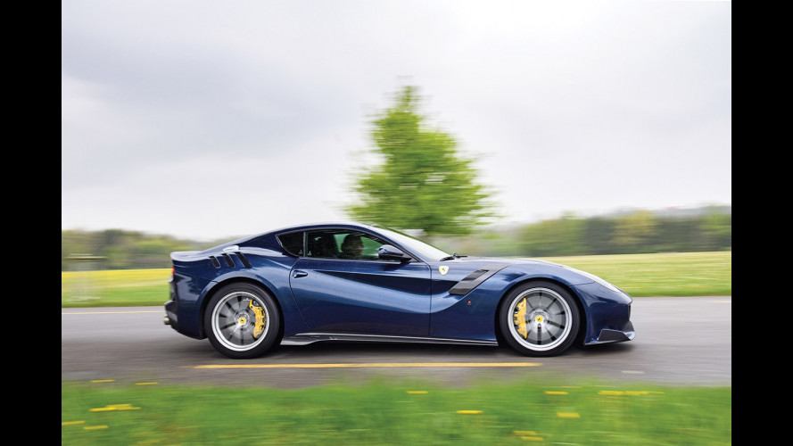 Ferrari F12tdf, all'asta un sogno blu