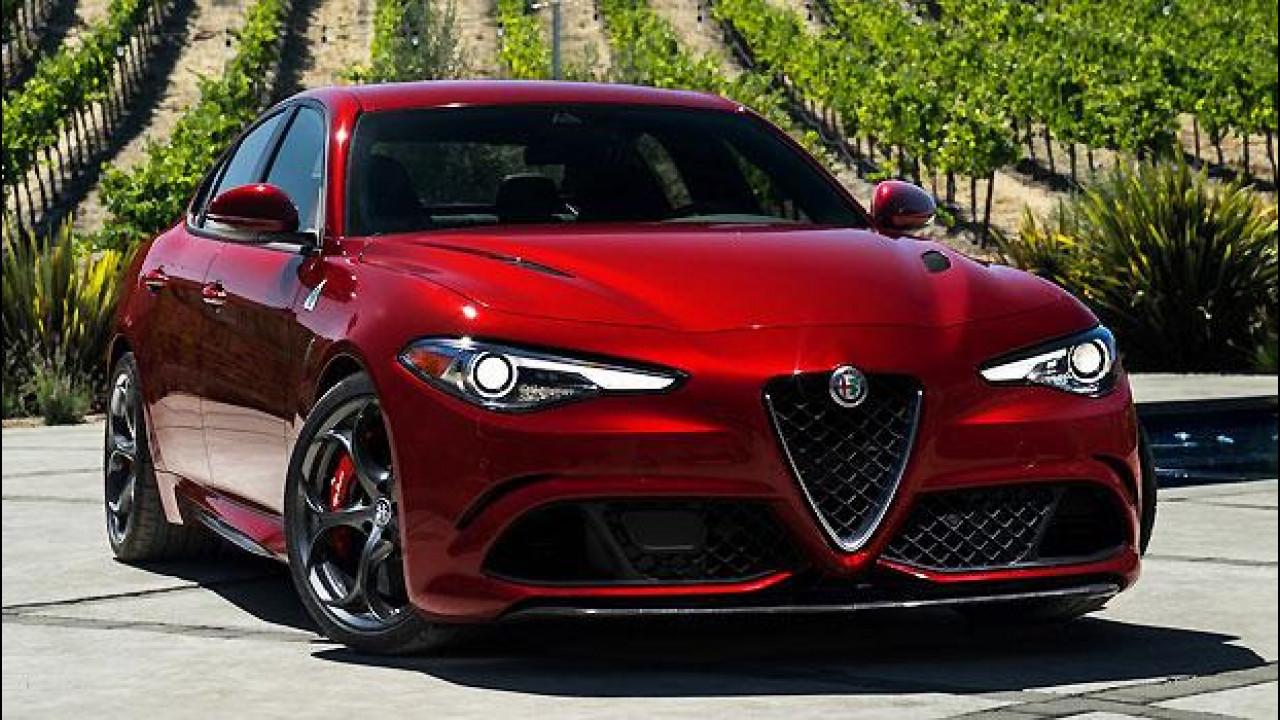 [Copertina] - Alfa Romeo Giulia Quadrifoglio, le foto della versione per gli USA