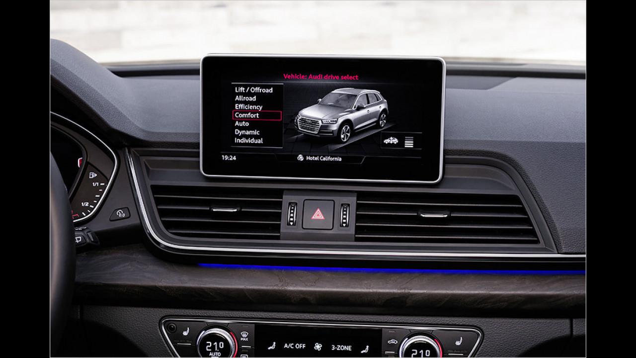Cockpit: Luftfederung und Drive Select