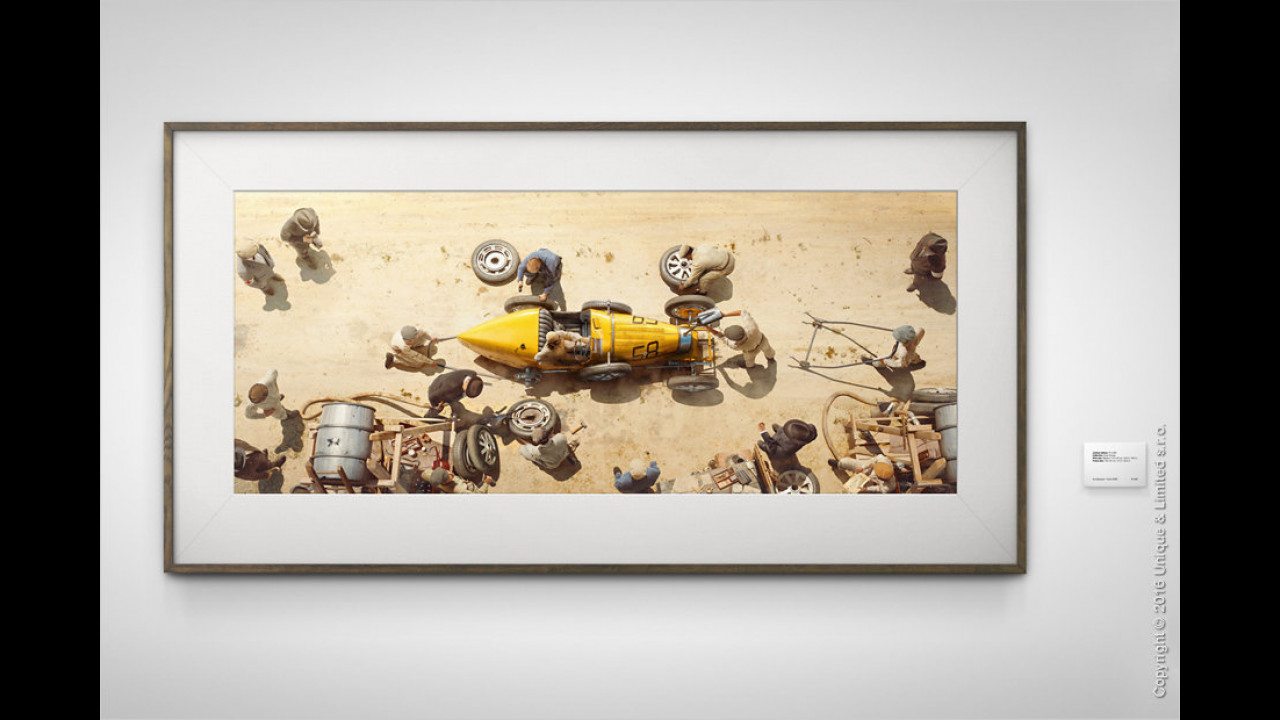 Kunstdruck: Bugatti bei der Targa Florio