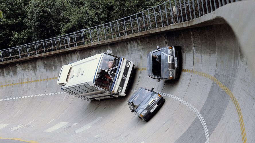 Mercedes High-Bank Curve Test Track Opened 50 Years Ago